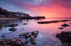 Sunrise over Crail, East Neuk of Fife, Scotland.