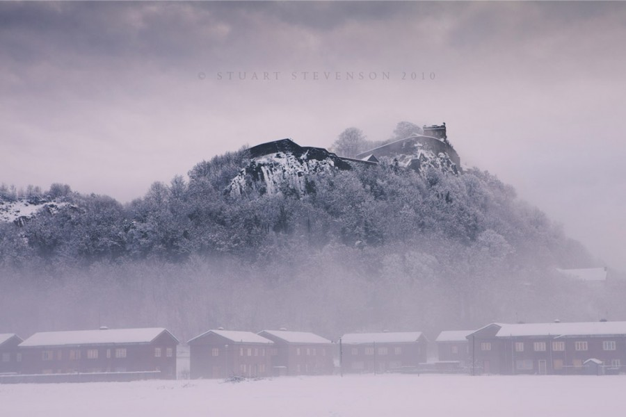 Stirling castle in the snow