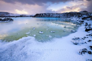 The geothermal pools in Grindavík, Iceland. 