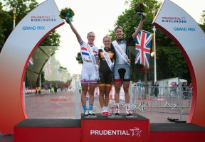 Podium presentation, Prudential RideLondon Grand Prix. Saturday 3 August 2013.