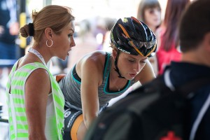 Laura Trott & Rochelle Gilmore, Team Wiggle Honda, Prudential RideLondon GrandPrix. Saturday 3 August 2013.