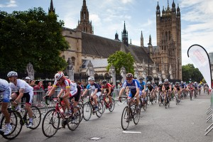 Prudential RideLondon-Surrey 100mile sportive passes Westminster. Sunday 4 August 2013.