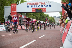 Prudential RideLondon, Grand Prix – junior race on The Mall, London. 9 August 2014