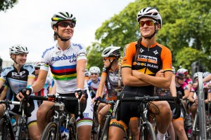 Marianne Vos & Lizzie Armitstead Prudential RideLondon, Grand Prix – pro women's criterium race on The Mall, London. 9 August 2014