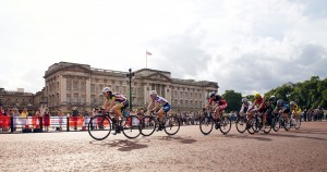 Prudential RideLondon, Grand Prix – pro women's criterium race on The Mall, London. 9 August 2014