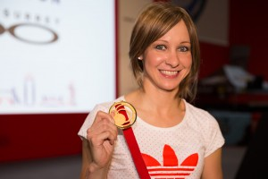 Joanna Rowsell, Prudential RideLondon, Cycle Show at London Excel. 8 August 2014