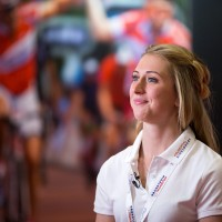 Laura Trott at Prudential RideLondon Cycle Show at the London Excel. Friday 31 July 2015. Photographer: Stuart Stevenson.