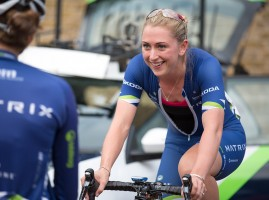Laura Trott, Pro women's criterium  race on the Mall, London. Saturday 1 August 2015. Photographer: Stuart Stevenson