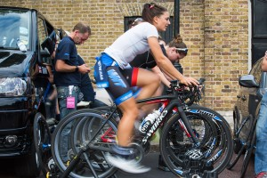Charline Joiner, Pro women's criterium  race on the Mall, London. Saturday 1 August 2015. Photographer: Stuart Stevenson
