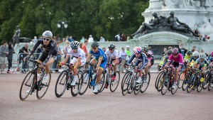 Dani King, Pro women's criterium  race on the Mall, London. Saturday 1 August. Photographer: Stuart Stevenson