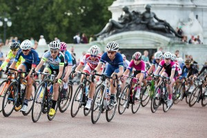 Laura Trott, Pro women's criterium  race on the Mall, London. Saturday 1 August. Photographer: Stuart Stevenson