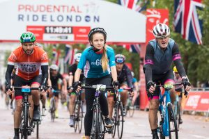 Prudential RideLondon 2018 – 100, 46, 19 finish line.  Photographer: Stuart Stevenson