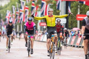 Prudential RideLondon 2018 – 100, 46, 19 finish line.