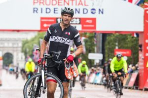 Prudential RideLondon 2018 – 100, 46, 19 finish line, Martin Johnson.  Photographer: Stuart Stevenson