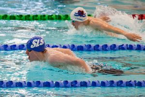 Scottish National Age Groups, Aberdeen. 100m Butterfly.