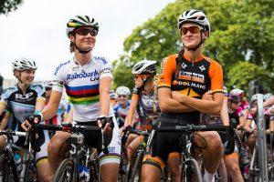 Marianne Vos & Lizzie Armitstead Prudential RideLondon, Grand Prix  2014.